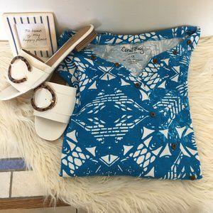 Coral Bay Blue & White Blouse